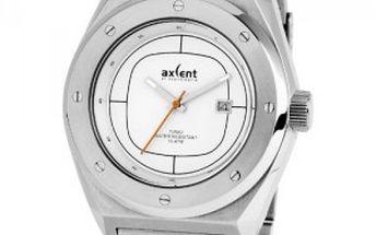 Hodinky Axcent of Scandinavia Turbo. Vlastnoruční podpis designera na víčku hodinek.