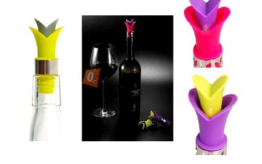 Silikonové zátky na lahve od vína - na výběr ze tří barev a poštovné ZDARMA! - 2