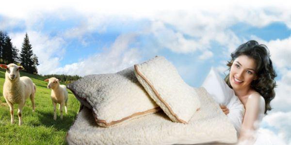 OVČÍ DEKA - 1x velký polštář, 1x malý polštář, 1x deka za akčních 449 Kč! Příjemná deka s polštáři vhodná i pro alergiky. Ušetřete skvělých 55%!