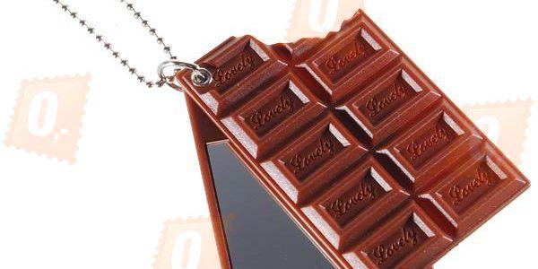 Přívěsek na klíče se zrcátkem - ve tvaru čokolády a poštovné ZDARMA! - 732