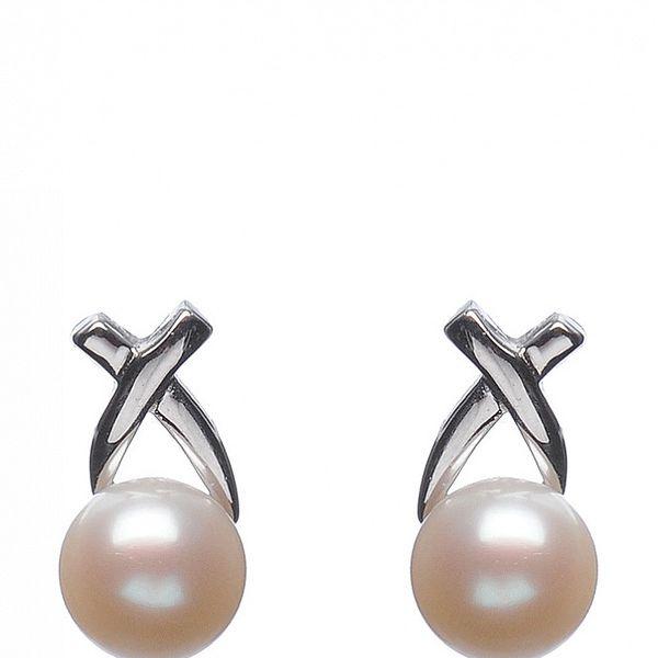 Náušnice Orchira s bielou perlou