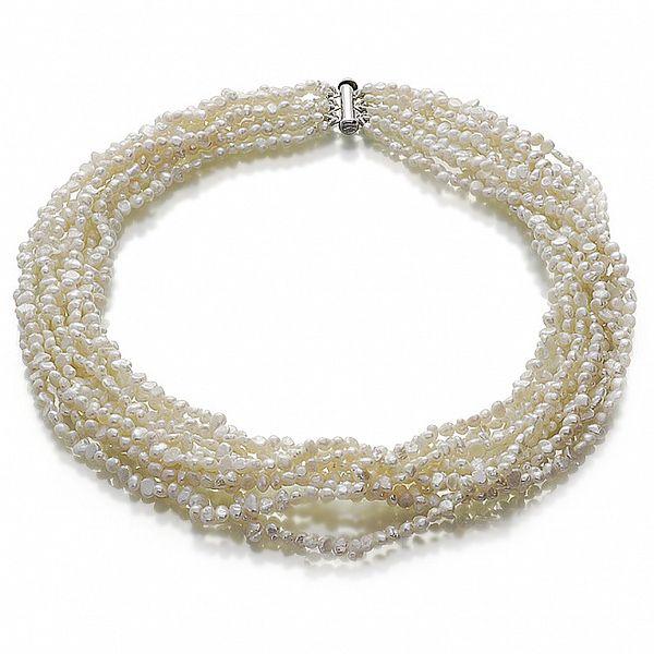 Náhrdelníky Orchira s bielymi perlami