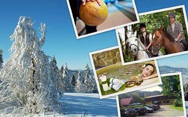 4 dny PRO DVA v Beskydech! Polopenze, sauna, lázně, bowling, jízda na koni s trenérem!