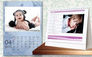 Nástenný alebo stolový kalendár s vlastnými fotografiami už od 5,99 €! Potešte seba, známych, starých rodičov či partnera darčekom, ktorý vám spríjemní celý rok 2013!