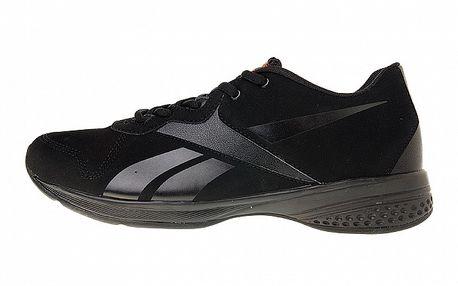 Dámske čierne fitness topánky Reebok so semišovou úpravou