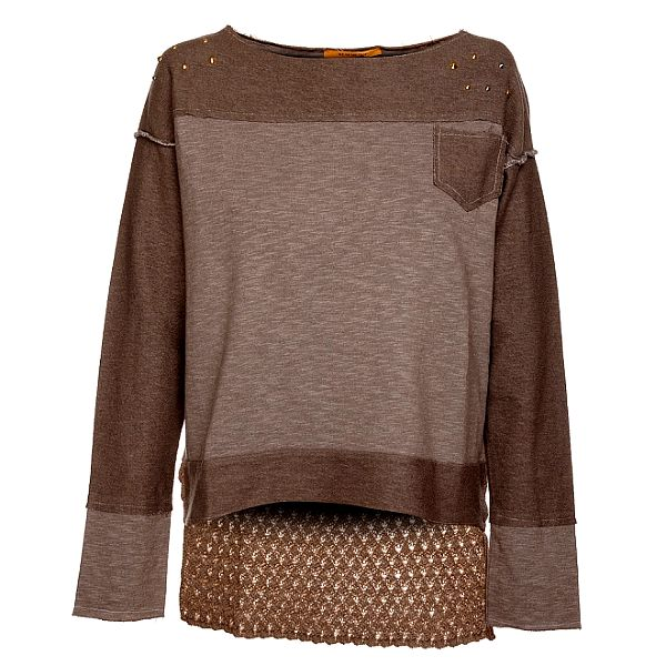 Béžovo-hnedé dámske tričko Bleifrei
