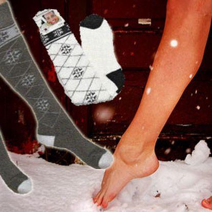 """Zohrejte si nohy v našich krásnych termo podkolienkach so zľavou 53%. Či sa už idete s deťmi sánkovať, lyžovať, alebo prejsť do prírody. Nezabudnite, že chlad """"prichádza"""" od nôh!"""