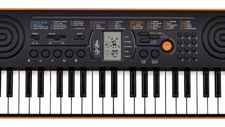 Klávesy CASIO SA 76. Velmi kvalitní zvuky, LCD displej, 10 demo skladeb.