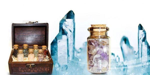 Truhla plná vzácných MINERÁLŮ jen za 499 Kč místo původních 1 499 Kč! Originální dárek s ametystem, křišťálem, olivínem a dalšími minerály se slevou 67%!