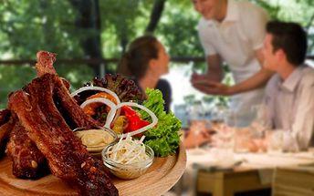 Restaurace Medlenka Vás zve na skvělá PEČENÁ UZENÁ ŽEBRA s jedinečnou slevou 50%! 600g za vypečených 80 Kč! Restaurace se nachází mezi Chrudimí a Pardubicemi.