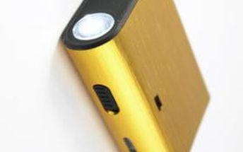 Power Bank s kapacitou 5000 mAh. Nabíjejte mobily včetně iPhone, ale také iPod, mp3, mp4, fotoaparáty a další digitální zařízení pohodlně a kdekoliv!