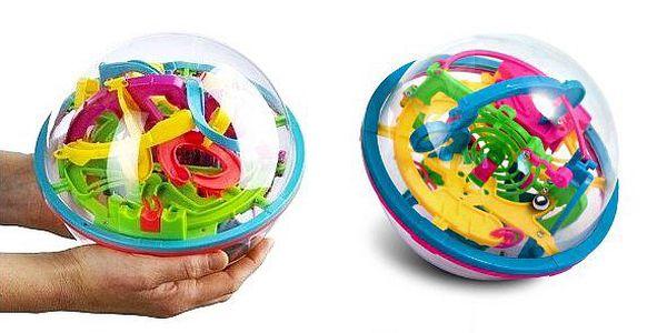 Inteligentní hlavolam 3D koule. Hlavolam roku 2012 o průměru 20 cm - propracované bludiště se 100 překážkami!