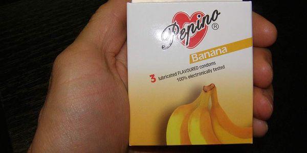 kondomy Pepino banán 3ks