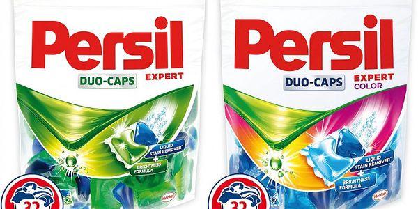 Persil DuoCaps 32+32 PD na bílé a barevné prádlo. Vysoký podíl aktivních čistících látek!