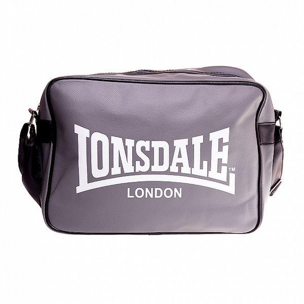 Tmavo šedá taška cez rameno Lonsdale s čiernym lemom