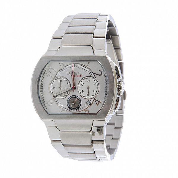 Pánske strieborné analogové hodinky Breil
