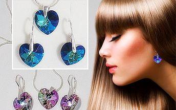 Set srdíčkových šperků Swarovski! Ideální dárek partnerce!
