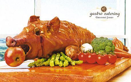 Zariaďte si nezabudnuteľnú oslavu, firemné stretnutie či vianočný večierok profesionálnym cateringom jednoducho kdekoľvek. Pečené prasiatko (vykostené) za polovičnú cenu 120 €.