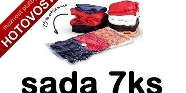 Nejvýhodnější sada 7 kusů vakuových pytlů k uskladnění prádla té nejvyšší kvality jen za 199,-Kč. Vakuové pytle jsou opakovaně použitelné, skvělý a praktický produkt.