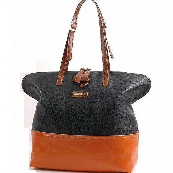 Dámska čierno-oranžová kabelka Bulaggi
