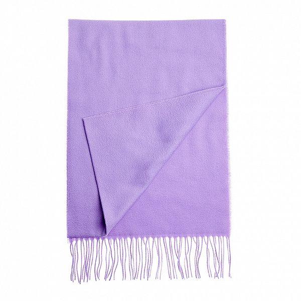 Dámska fialková kašmírová šála Fraas so strapcami
