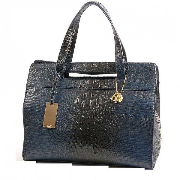 Dámska ocelovo modrá kabelka Bulaggi v efekte pštrosej kože
