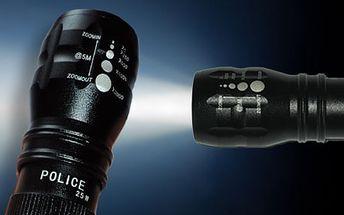 POLICE - ZOOM - BATERKA s dosahom až 150m iba za 7,50€! Posvieťte si na každú situáciu kvalitnou baterkou ako pravý profesionál!
