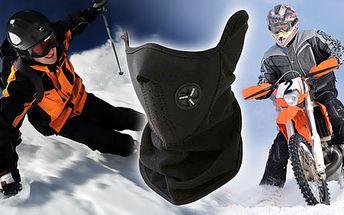 Kvalitní neoprenová maska - efektivní ochrana před mrazem, větrem, deštěm a prachem při sportu jen za pouhých 120 Kč. Užívejte si naplno adrenalin i s 60% HyperSlevou!
