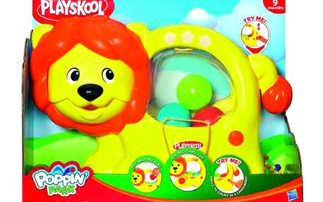 Interaktivní lvíček PlaySkool s vyskakujícími míčky a se spoustou funkcí. Umí např. počítat do 10 ve 4 jazycích!