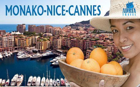 5-dňový autobusový zájazd na Francúzsku riviéru pre 1 osobu s CK Adria Travel spojený s návštevou známeho festivalu citrusov! V cene hotelové ubytovanie, doprava, kvalitný sprievodca!