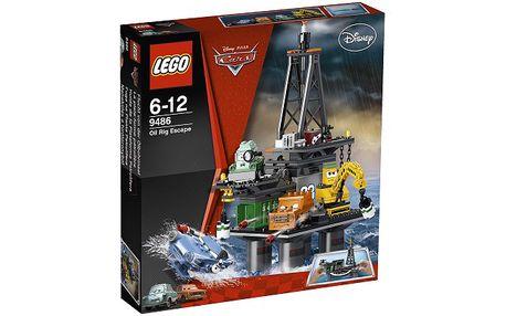LEGO inspirované filmem Auta! Únik z těžební věže. Obsahuje 422 dílků. Težební věž je vysoká 33 cm.