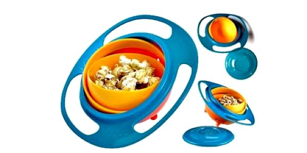 Pouhých 69 Kč za KOUZELNOU Gyroskopickou misku pro děti Gyro Bowl! Otáčejte misku dle libosti do všech stran, miska se nikdy nepřevrhne!