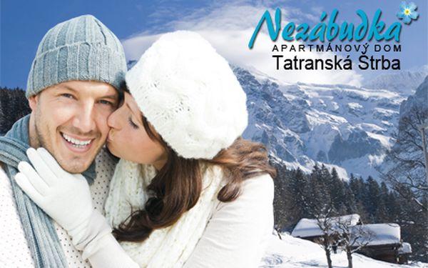 3-dňový wellness pobyt s polpenziou až pre 4 osoby v apartmánoch Nezábudka**** v Tatranskej Štrbe s nádherným výhľadom na panorámu Vysokých Tatier!