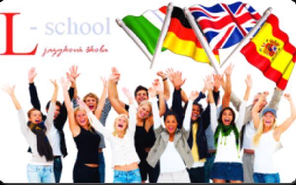 Iba 1,50€ za zľavový kupón s 55% zľavou na 5-týždňový jazykový kurz angličtiny, nemčiny, španielčiny a taliančiny v jazykovej škole L-School! Učte sa alebo zdokonaľujte v jazykových vedomostiach za super cenu len 25,00€ miesto pôvodných 55,00€!