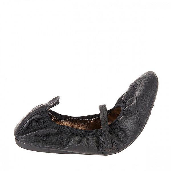 Dámske čierne elastické baleríny Naf Naf