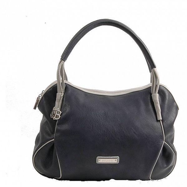 Dámská tmavě modrá kabelka Bulaggi s šedivými detaily