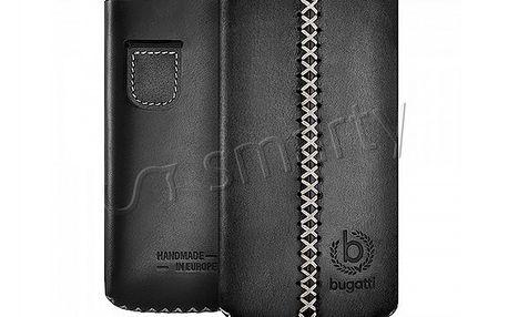 Značkové kožené pouzdro Bugatti na iPhone 4s. Bezpečně ochrání telefon.