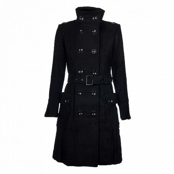 Dámsky čierny kabát Timeout
