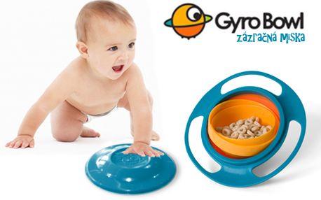 Gyro Bowl - miska na jedlo pre deti, ktorej obsah sa nikdy nevysype len za 4,99 € aj s poštovným! Šikovné riešenie pre všetky mamičky, ktoré majú doma neposedné deti!