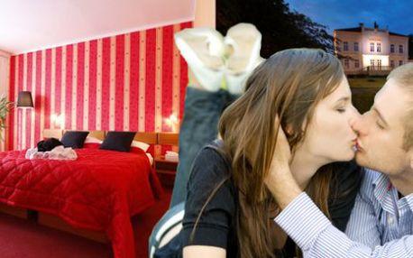 3 denní VALENTÝNSKÝ POBYT s romantickým menu pro 2 osoby v Parkhotel Morris Nový Bor