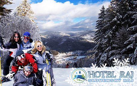 3-dňová lyžovačka v Slovenskom raji pre 2 osoby od 47,70 € so zľavou na skipas.
