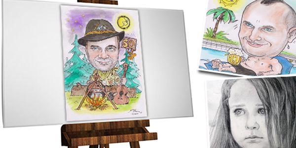 Zhotovenie karikatúry alebo portrétu