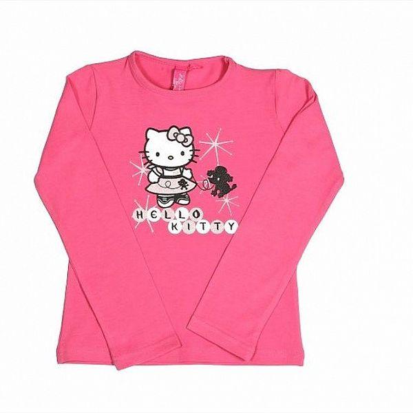 Dětské sytě růžové tričko Hello Kitty