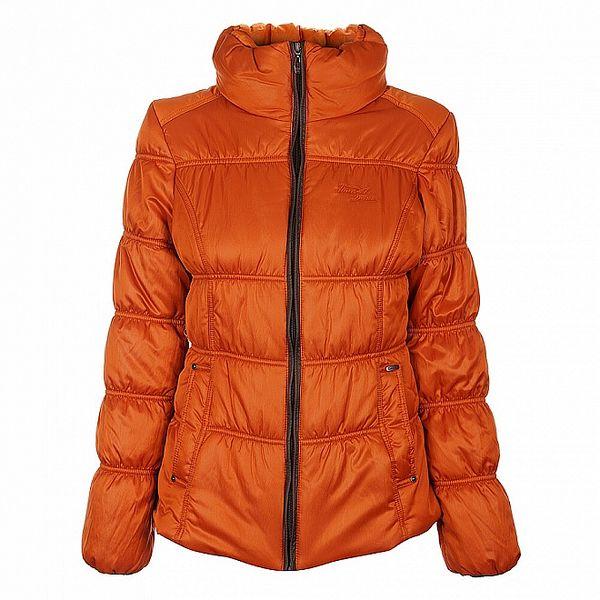 Dámská oranžová zimní bunda Timeout