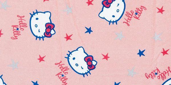 Detská svetlo ružová osuška Hello Kitty