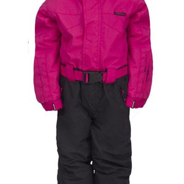 Dětská růžovo-černá zimní kombinéza Envy