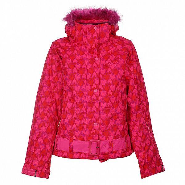 Dámská růžová snowboardová bunda Envy se srdíčky