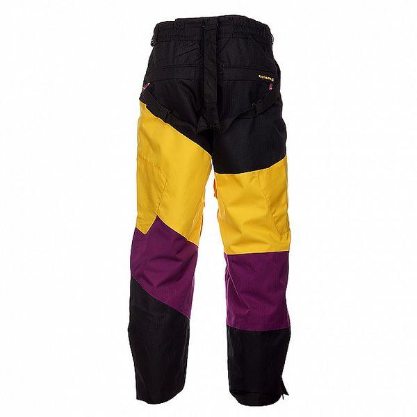 Pánské černé snowboardové kalhoty Envy s barevnými pruhy