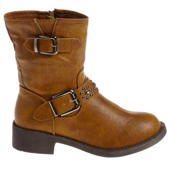 Dámské velbloudí boty Mario Barcelo s kovovými cvoky