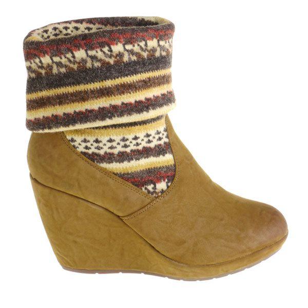 Dámské velbloudí boty Maria Barcelo s barevnou pleteninou